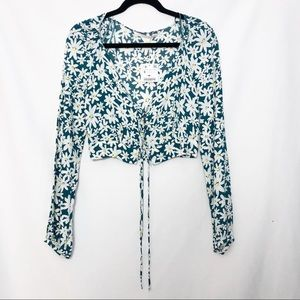 Zara Floral Cropped Top
